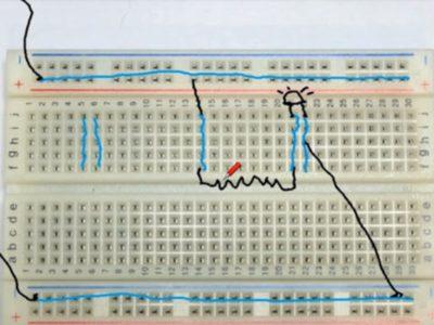 Fundamental Electronics Tutorial 2 – Electrical energy – Fundamental Circuit – Breadboard
