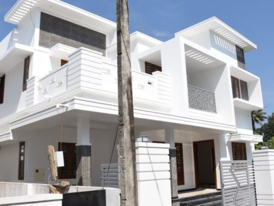 New villa on the market in Athani, Aluva, Ernakulam close to Fundamental street | 2200 sq ft in 5 cents plot