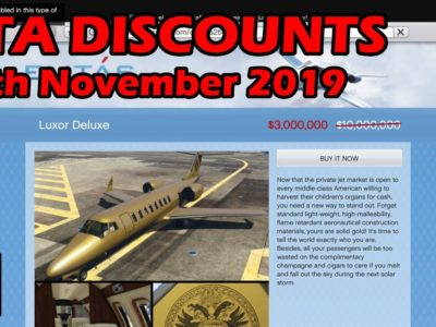 GTA On-line Greatest Car Reductions (28th November 2019) – GTA 5 Weekly Automotive Gross sales Information #14