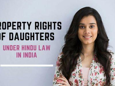 Property rights of daughters Below Hindu Regulation in India