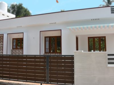 Single ground home on the market in Chalakudy, Thrissur, Kerala | 1300 sq ft in 6 cents plot