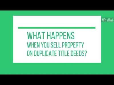 Promoting property in India on duplicate title deeds – Lawyer Nidhi Singh