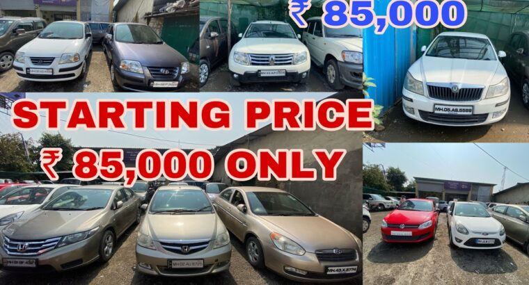 Beginning ₹ 85,000 Used Vehicles For Sale Honda, Skoda, Tata, Renault, Chevrolet, Hyundai | Fahad Munshi