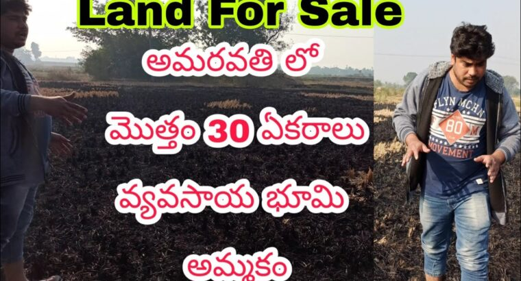 30 Acres Agriculture land On the market in Amaravati , Acre per 11 Lakhs solely