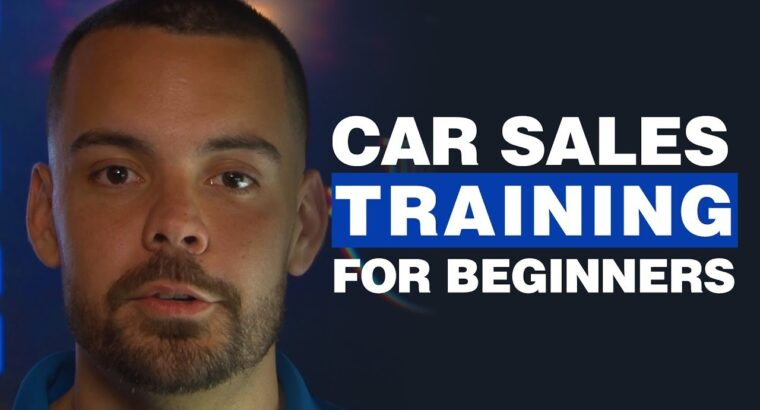 Automobile Gross sales Coaching for Rookies