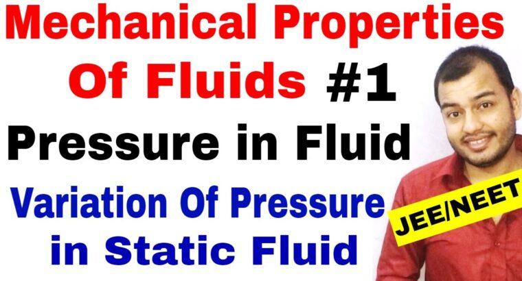 Class 11 chap 10   MECHANICAL PROPERTIES OF FLUIDS 01   Introduction : Strain in a Fluid JEE/NEET
