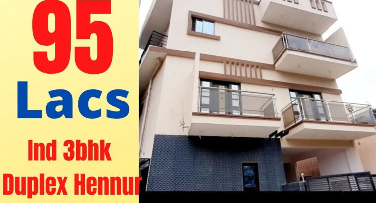 Home for Sale in Bangalore Hennur 3bhk Duplex || Property on the market in Hennur Byrathi impartial