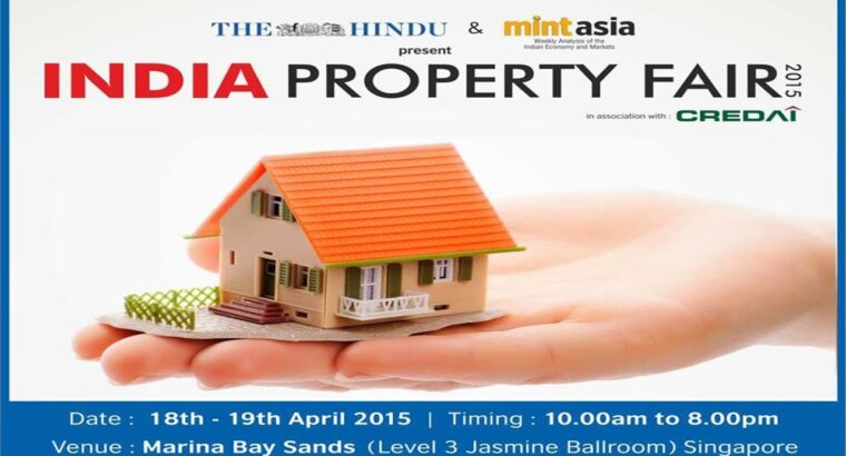 India Property Honest 2015 in Singapore on 18-19th Apr @ Marina Bay Sands