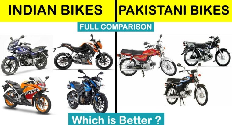 Indian bikes vs Pakistani bikes Full Comparability UNBIASED in Hindi 2020
