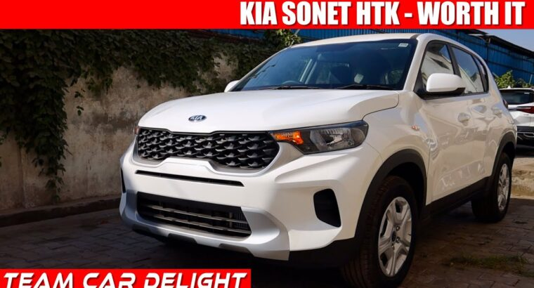Kia Sonet HTK – Detailed Evaluation with On Highway Value | Sonet 2020 | Group Automobile Delight