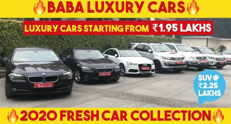 LUXURY CARS STARTING FROM 1.95 LAKHS ( 5 SERIES, three SERIES, AUDI A3, FORTUNER, CRETA) BABA LUXRY CAR
