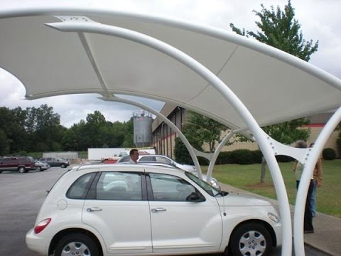 Newest Design Coated Parking Constructions,Automobile Parking Shades,Business Carport Specialised India