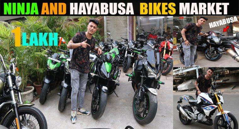 SUPERBIKES in ₹1 LAKH | HAYABUSA | DUCATI | NINJA ZX 14R | CBR | MV AUGUSTA l SARASWATI MOTORS