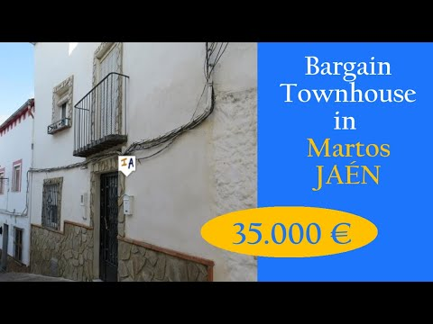 TH4661 Low-cost three Mattress Home + backyard + patio Property on the market in Spain Martos, Jaen, inland Andalucia.