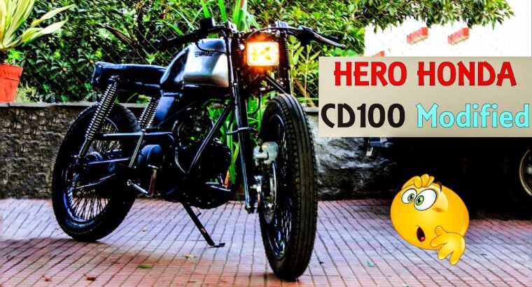 TOP Hero Honda CD100 Modified You Ever Seen    TOP Modified Bikes In INDIA    MOTORMINE   