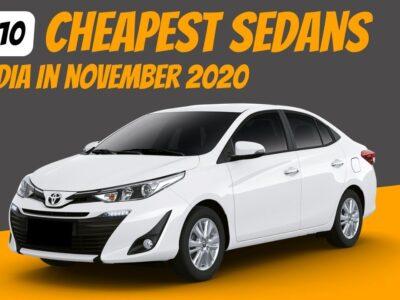 High10 Least expensive Sedan Vehicles in India in November 2020