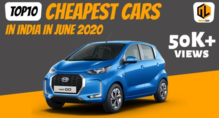 Prime10 least expensive vehicles in India in June 2020