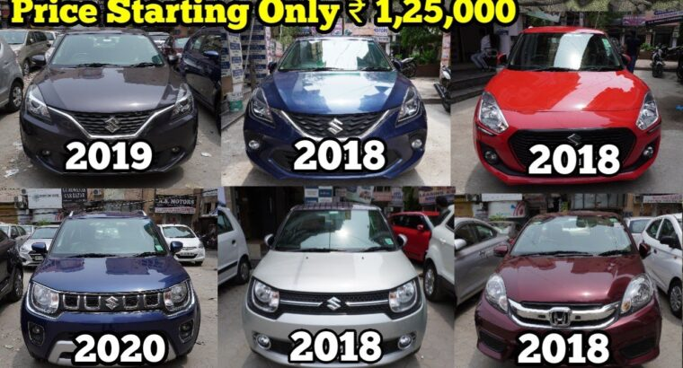 1 to 2 Yr previous Automotive as Good as New   Worth Beginning ₹ 1,25,000   Baleno, Ignis, Swift,Amaze   NTE