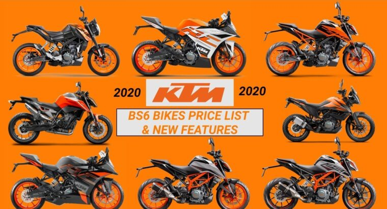 2020 KTM BS6 Bikes Worth Record in India | New Mannequin New Colour | Mileage | Options | Gasoline injection