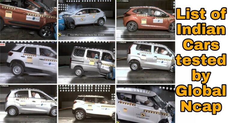 All Indian Vehicles Security Rankings by World NCAP | Jeet Patel
