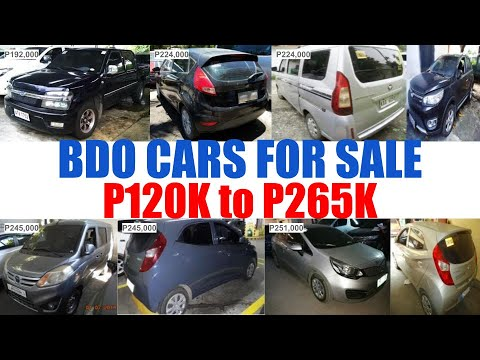 BDO REPOSSESSED CARS for SALE PRICE from P120Ok to P265Ok