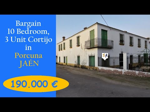CJ658 Discount Giant 10 Bed room Cortijo Property on the market in Spain Porcuna, Jaen, inland Andalucia.