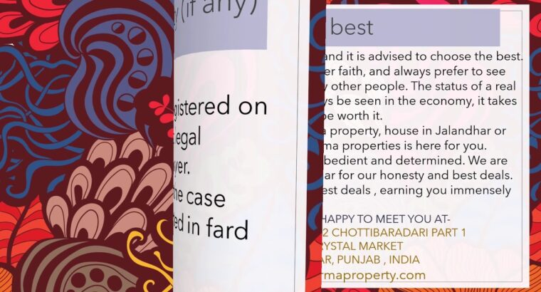 Paperwork wanted to purchase or promote a property or a home |Verma properties |Jalandhar|