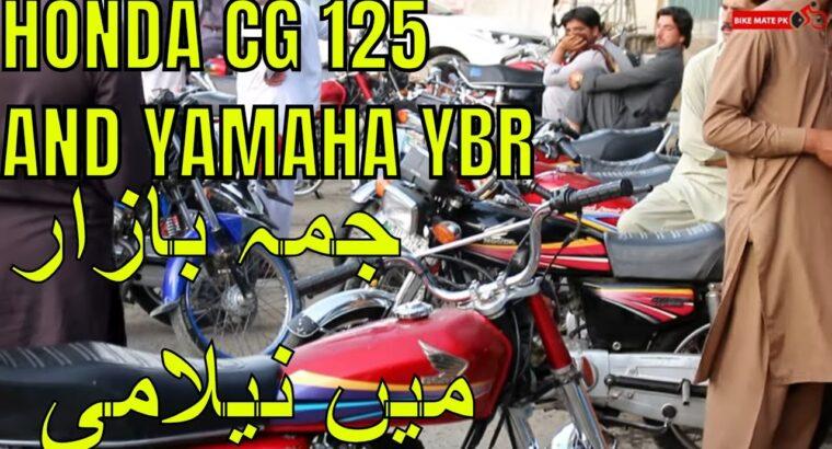 JUMMA BAAZAR | HONDA CG 125 YAMAHA YBR FOR SALE | BIKE MATE PK