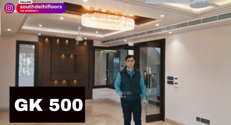 Luxurious Property in South Delhi, GK 500 Yards four Bed room Flats for Sale.