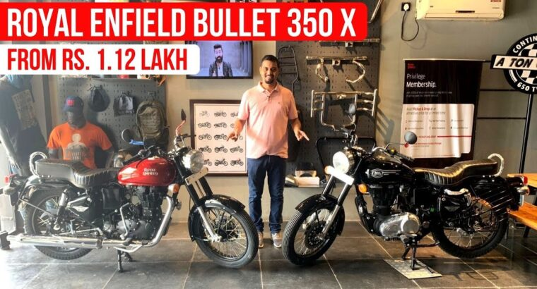 New Royal Enfield Bullet X 350 Launched At Rs. 1.12 Lakh – Detailed Walkaround