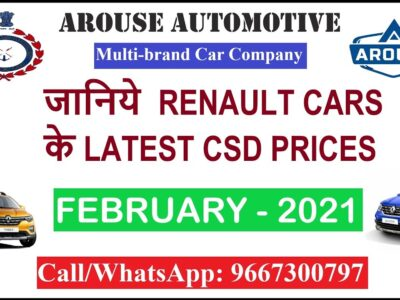 Renault Vehicles CSD February Value Checklist (Arouse Automotive Delhi Contact: 9667300797)