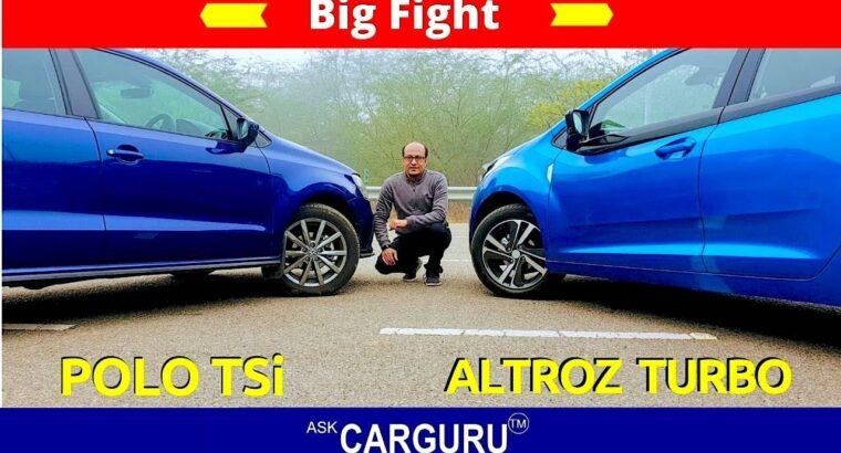 Tata altroz vs Volkswagen Polo  🔥तेरा Turbo मेरा Turbo 🔥  Massive Struggle 🔥 Ask CARGURU