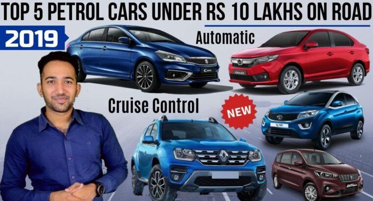 Prime 5 Petrol Vehicles Beneath Rs 10 Lakhs On Street in India 2019 | Duster, Ertiga, Ciaz, Amaze, Nexon