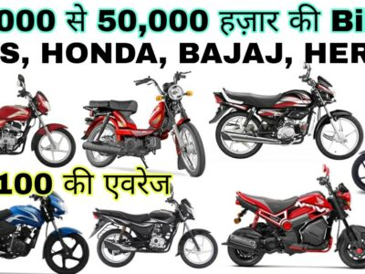 भारत की सबसे सस्ती bikes | Bikes beneath 35000 in india | TVS, Honda, Bajaj, Hero |