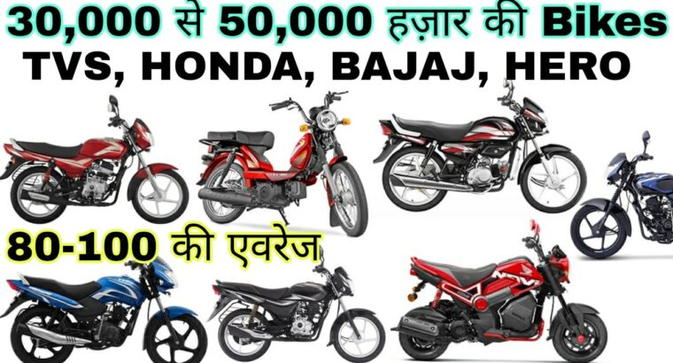 भारत की सबसे सस्ती bikes | Bikes beneath 35000 in india | TVS, Honda, Bajaj, Hero |