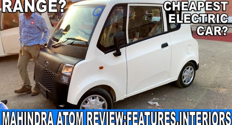 2020 Mahindra Atom Overview   Most cost-effective Electrical Automotive   Worth, Options, Interiors