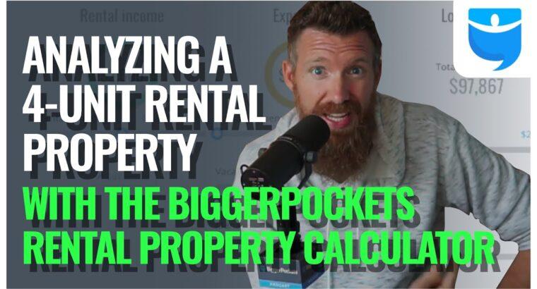 Analyzing a Four Unit Rental Property! (Utilizing the BiggerPockets Rental Property Calculator)