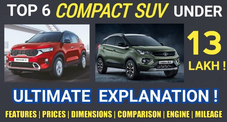 BEST COMPACT SUV CARS IN INDIA 2020 | UNDER 13 LAKHS | BEST SUB Four METER SUV IN INDIA 2020 | HINDI |