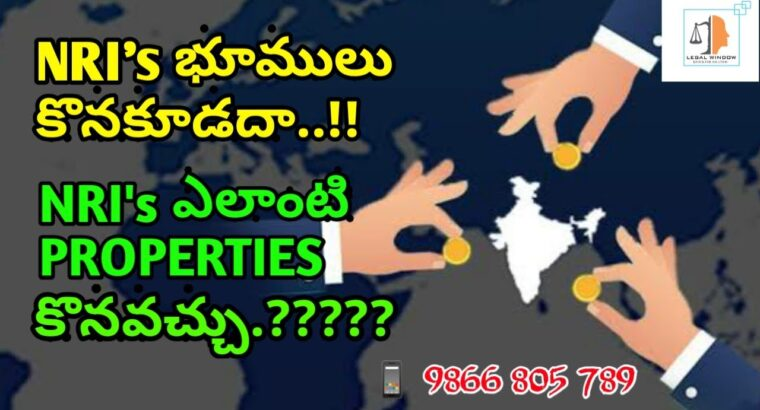 Can NRI Buy Properties In India / NRI's proper's over a property