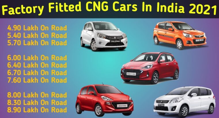 Manufacturing unit Fitted CNG Automobiles Listing In India 2021 With On Street Value Alto Wagon R Celerio Nios