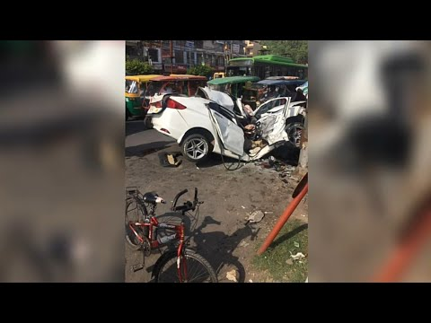 Newest automotive accident at delhi india,