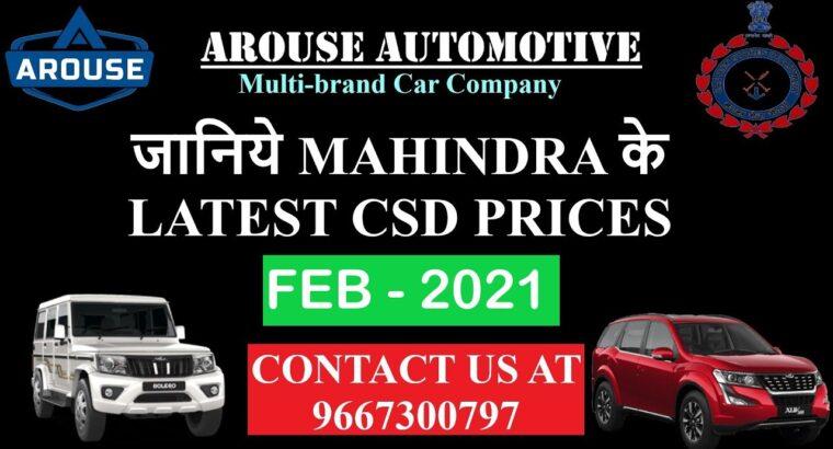 Mahindra CSD Feb 2021 Worth Listing(Arouse Automotive Multi model Automotive Firm Delhi Contact 9667300797)