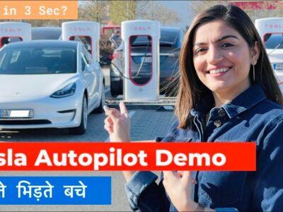 TESLA Autopilot   Tesla in India   Tesla Automobiles   Indian Driving Tesla Automotive   Elon Musk   Hindi Video