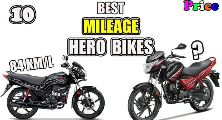 High 10 Hero Bikes Underneath 66500   Mileage
