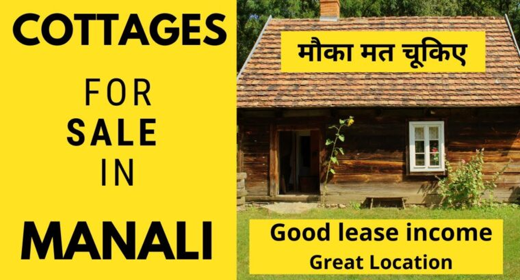 Stunning Cottages on the market in Manali | Finest purchase | Superb lease revenue