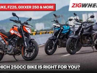 Greatest 250cc bikes In India – Suzuki Gixxer 250, KTM 250 Duke, Bajaj Dominar 250 & Extra | ZigWheels