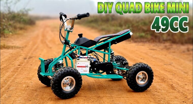 Construct a Mini Quad Bike at house – Utilizing 2-Stroke 49cc Engine – Tutorial