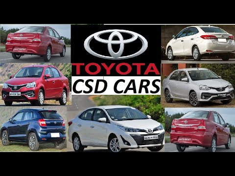 CSD  (Canteen Shops Division) Toyota Automobiles Worth in 2020 India