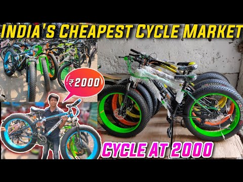 Most cost-effective *CYCLE MARKET* of India   CYCLE at RS 2000   MTB Bikes   FAT BIKE   Shiva The Vlogger