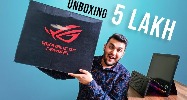 Loopy 5 Lakh Rupees Folding Gaming Laptop computer | ROG Mothership Unboxing!